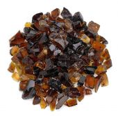 American Fireglass 10-Pound Recycled Fire Glass, 3/4 Inch, Auburn
