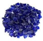 American Fireglass 10-Pound Recycled Fire Glass, 3/4 Inch, Dark Blue