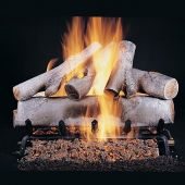 Rasmussen DF-WB-Kit Double Sided Birch Series Complete Outdoor Fireplace Log Set
