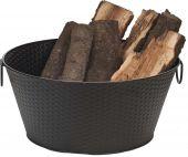 Dagan DG-1530 Black Log Bucket, 22-Inches
