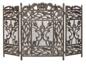 Dagan DG-AHS900 Three Fold Antique Bronze Arched Fireplace Screen, 46x30.25-Inches