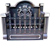 Dagan DG-CI920 Basket Grate with Fireback, Black