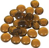 Dagan DG-GB-AMBERIR 3/4-Inch Fire Beads, 10, Amber
