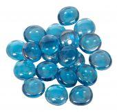 Dagan DG-GB-LHTBLIR 3/4-Inch Fire Beads, 10, Light Blue Iridescent