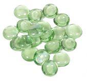 Dagan DG-GB-LHTGNIR 3/4-Inch Fire Beads, 10, Light Green Iridescent