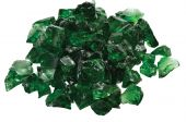 Dagan DG-GLL-DARKGR 1/2 - 3/4-Inch Fire Glass, 10, Dark Green