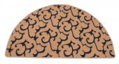 Dagan DG-HR201 Half Round Beige and Black Hearth Rug, 43x26-Inches