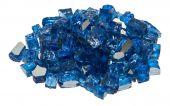Dagan DG-TG-DIABLUE 1/4-Inch Reflective Fire Glass, 10, Dark Blue
