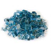 Dagan DG-TG-STEELBL 1/4-Inch Reflective Fire Glass, 10, Blue