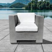 Prism Hardscapes PHDIVC Divano Concrete Club Chair, 39-Inch