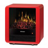 Dimplex DMCS13R Mini Cube Stove, Red Gloss