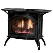 White Mountain Hearth DVP30CC Direct-Vent Cast Iron Stove with Slope Glaze Burner, 30-Inches