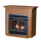 White Mountain Hearth EMBF11 Cabinet Mantel with Base for Vail VFD26 Fireplaces