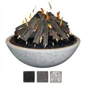 Athena FB3913TP Concrete Fire Bowl 39x13-Inch with Tee-Pee Stack