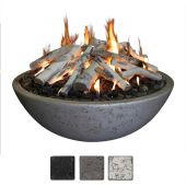 Athena FB4816FR Concrete Fire Bowl 48x16-Inch with Ring Burner