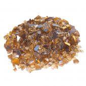 Real Fyre GL-10-QR Copper Reflective Fire Glass, 10 Pounds