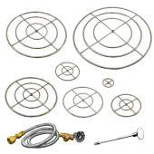 Firegear FG-FRSS Stainless Steel Gas Fire Pit Burner Ring Kit