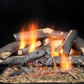 Majestic STFSO Fireside Supreme Oak Vented Gas Log Set for See-Through Fireplaces