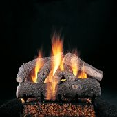 Rasmussen DF-S-Kit Double Sided Frosted Oak Series Complete Outdoor Fireplace Log Set