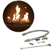 Firestorm by FSLS32-FLKV34FIT180 Match Lit Steel Gas Log and Burner Kit