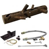 Firestorm by FSLS32-PBIK3.0MBRFLKV34FIT180 Spark Ignition Steel Gas Log and Burner Kit