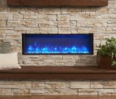 GreatCo Gallery Series Built-In Electric Fireplace, 44-Inch, Amber