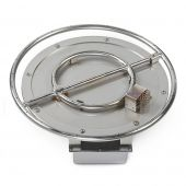Grand Effects FPIAUT24 Commercial Grade Round Electronic Ignition Gas Fire Pit Burner Kit