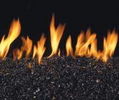 Real Fyre G22 Series Vented Glass Burner - Black Fire Glass