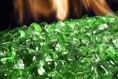 American Fyre Designs Emerald Diamond Nugget Fire Glass