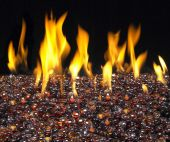 American Fyre Designs Deep Amber Fyre Glass Gems