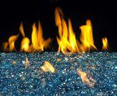 American Fyre Designs Blue Topaz Fyre Glass Gems