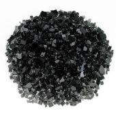 Rasmussen GLX-BL Black Fire Glass, 10-Pounds