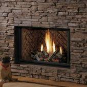 Kingsman HBZDV4228 42-Inch High Capacity Zero Clearance Dual Burner Direct Vent Gas Fireplace with Log Set