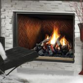 Kingsman HBZDV4736 47-Inch Zero Clearance Dual Burner Direct Vent Gas Fireplace with Log Set
