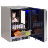 Lynx Stainless Steel Outdoor Refrigerator/Freezer Combo, 24-Inch