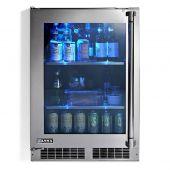 Lynx LN24REFG Stainless Steel Outdoor Glass Door Refrigerator, 24-Inch