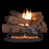 Superior LMFMO Vent-Free Concrete Mossy Oak Gas Log Set