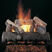 Rasmussen DF-LS-Kit Double Sided Lone Star Series Complete Outdoor Fireplace Log Set