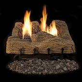 Superior LVDTB Vent-Free Ceramic Fiber Townsend Bark Gas Log Set