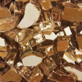 "Grand Effects FGSRCO Reflective 1/2""-3/4"" Copper Fire Glass, 25 lbs"