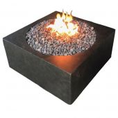 Fire by Design MGRCUBE42 Round Cube 42-Inch GFRC Fire Pit Table