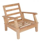 Royal Teak Collection MIACHFO Miami Teak Chair, Frame Only (Cushions Not Included)