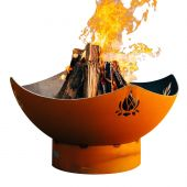 Fire Pit Art Namaste Wood Fire Pit