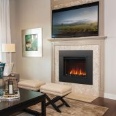 Napoleon NEFB26H-NEFTK2636 Cineview 26-Inch Electric Fireplace Insert with Logs, Crystal Media, Remote & 5-Inch Surround