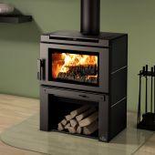 Osburn Matrix Wood Stove with Black Side Panel Kit