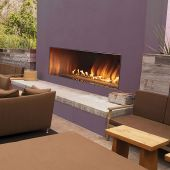 Empire OLL60FP12 Carol Rose Coastal Collection Ventless 60-Inch Outdoor Linear Gas Fireplace, Battery-Powered Spark Ignition, Multicolor LED Lighting