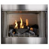 Empire OP42FP Carol Rose Coastal Collection 42-Inch Outdoor Gas Fireplace with Wildwood Log Set