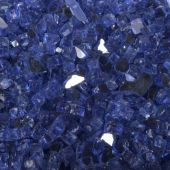 "The Outdoor Plus OPT144CB 1/4"" Cobalt Reflective Fire Glass, 25-Pounds"