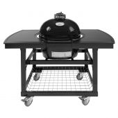 Oval JR 200 Ceramic Smoker Grill On Cart