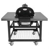 Oval JR 200 Ceramic Smoker Grill On Cart